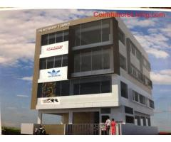 coimbatore -commercial property with 3 floors each 1600 sq ft with all amenities.