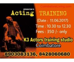 coimbatore -acting training