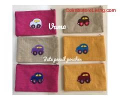 Jute Pencil pouches
