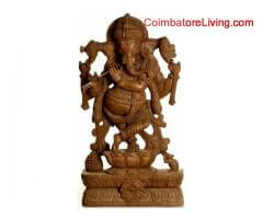 coimbatore - wooden statues