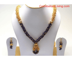 coimbatore - silk thread jewels and pearl sets