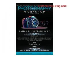 coimbatore -Photgraphy workshop on january 21