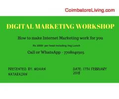 digital marketing one day workshop in appin technology coimbatore