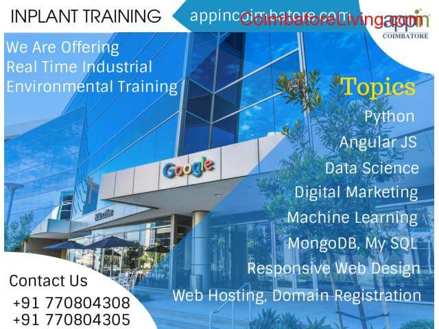 coimbatore - Inplant Training in Appin Technology Coimbatore. - 1/1