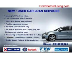 coimbatore -NEW / USED CAR LOAN SERVICES