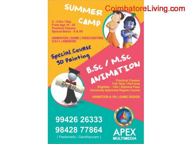 coimbatore - JUNIOR DIPLOMA IN ANIMATION - 1/1