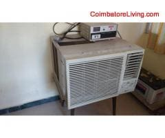 LG one ton window AC in good working condition