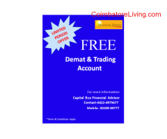 coimbatore -Free Demat Account with Low Brokerage