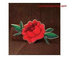 coimbatore -Flower Custom Patches No Minimum