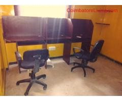 Available 260 Sq ft furnished office for rent in Ramnagar, Coimbatore