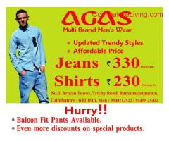 coimbatore -jeans and shirts