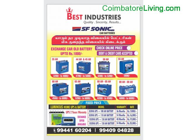 BATTERY SALES CALL @ 9940904828 /9944160204 - 1/1