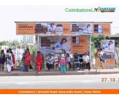 coimbatore - Outdoor Media Advertising Coimbatore, Bus Shelter Ads