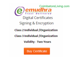 coimbatore - Class-II Digital Signature Certificate @ Rs.950 Only