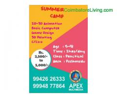 coimbatore -Animation Summer Camp 2019
