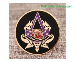 coimbatore -Rose Custom Hard Enamel Pins