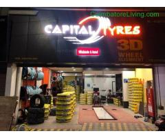coimbatore - Tyres & 3D wheel alignment service