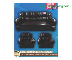 coimbatore -solid Artificial Leather Sofa
