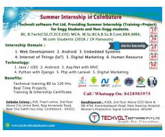 coimbatore - PYTHON INTERNSHIP IN COIMBATORE|TECHVOLT SOFTWARE INTERNSHIP