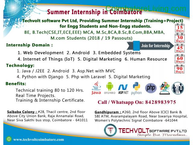coimbatore - INTERNSHIP PROGRAM||TRAINING PROGRAM||STUDENTS INTERNSHIP - 1/3