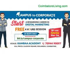 coimbatore -Free Class 4 Hours Courses at Kambaa Academy
