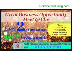 Coimbatore'S BIGGEST BUSINESS OPPORTUNITY