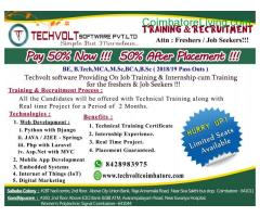 coimbatore - A M.SC,BCA,B.SC Internship in Coimbatore ||Techvolt Software Internship