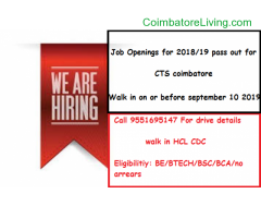 coimbatore - Job Openings For 2018/19 pass out for CTS coimbatore - Image 2/3