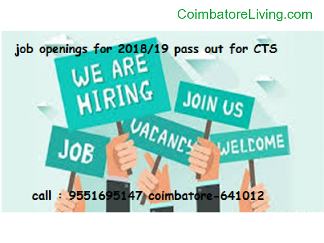 coimbatore - Job Openings For 2018/19 pass out for CTS coimbatore - 3/3