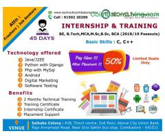 coimbatore -Fresher Internship and Training
