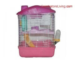 PET ANIMAL HAMSTER HOME/ HAMSTER CAGE - (31x22x28.5 cms) - P-678