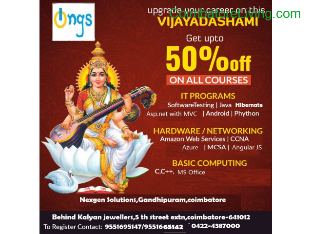 coimbatore - Vijayadasami offers from Nexgen Solutions - 1/1