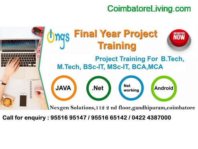 coimbatore - Internship and Project training For all final year students - 1/2