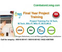 coimbatore - Internship and Project training For all final year students