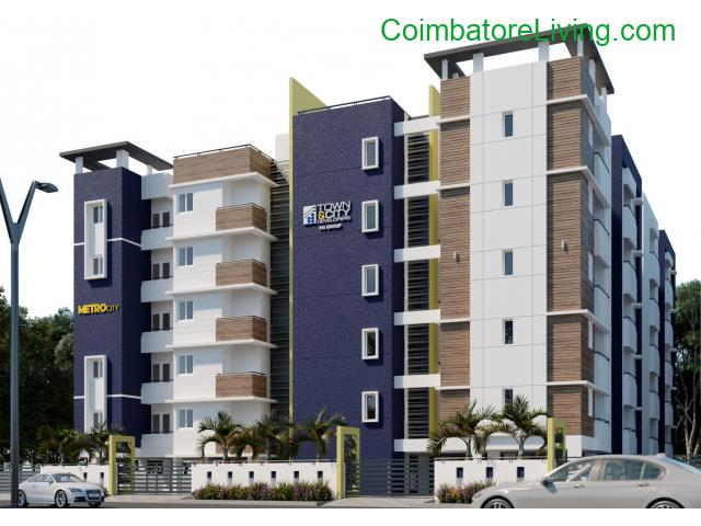 coimbatore - 1 & 2 BHK Apartments-Coimbatore | Flats in Kavundampalayam | Town & City Developers - 1/6