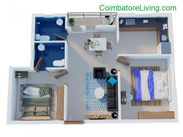 coimbatore - 1 & 2 BHK Apartments-Coimbatore | Flats in Kavundampalayam | Town & City Developers - 3/6