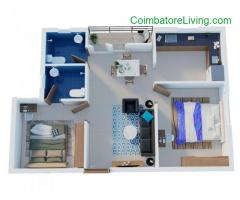 coimbatore - 1 & 2 BHK Apartments-Coimbatore | Flats in Kavundampalayam | Town & City Developers - Image 3/6